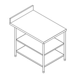 Side Table with 2 U/s