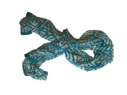 Handprinted Silk Scarves