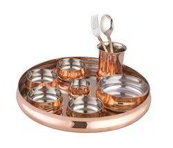 Copper Curve Thali Set