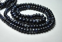 Dark Blue Sapphire Faceted Smooth Polished Rondelles