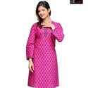 Pink Silk Kurti