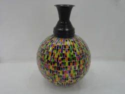 Metal Mosaic Vases