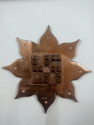 Solid Copper Lotus Swastik Yantra