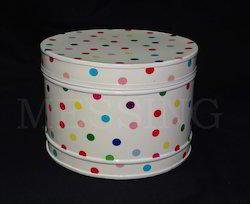 Galvanized Round Dotted Box