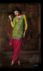 Green Readymade Suit Anarkali Style