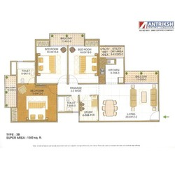 Three Bedroom Flats in Sector 77 Noida
