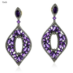 Pave Diamond Dangle Earrings Jewelry