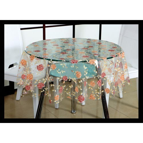 Wonderful Transparent Printed Table Cloth. Transparent Printed Table Cloth