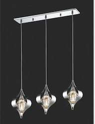 Amano Pendant 3 Light Polished Chrome/Crystal
