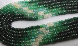 Emerald Shaded Faceted Rondelles Strand 16'' Size 3-3.5 mm