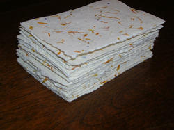 Deckle Edged Handmade Papers with Flower Mottling