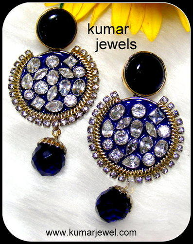 Antique Blue Earring.