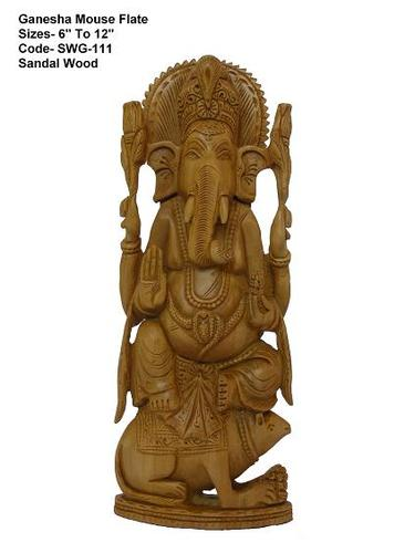 Lord Ganesha Sculpture Sandalwood Ganesha Wood Crafts