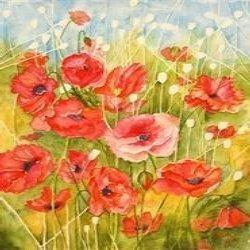 fine art watercolor flower painting