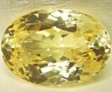 oval synthetic citrine yellow zircon stones