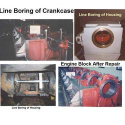 On Site Line Boring of Engine Block
