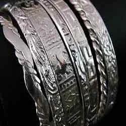 Metal Cut Bangles