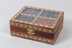 Gem Stones Teak Wood Box