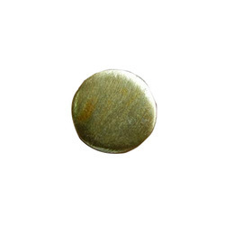 vermeil matt brushed beads round shape
