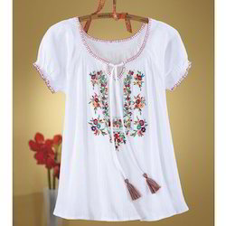 Embroidered Womens Tops