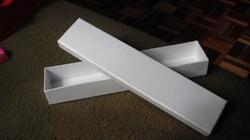 Rigid Empty Scroll Boxes In White For Wedding Stationers