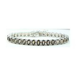 Smoky Topaz Silver Bracelet