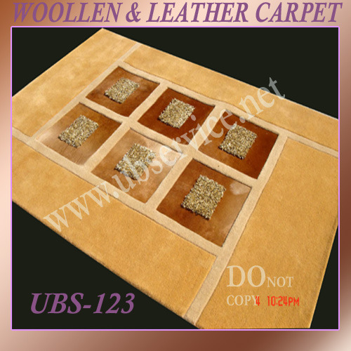 Leather Carpets India Woolen Leather Carpets