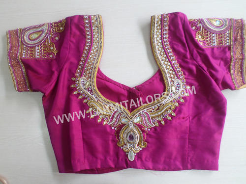 Bridal blouse embroidery designs imgkid the