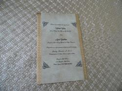 Old Look Foil Stamped Papers For Scroll Invitation Makers