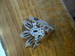 Small Mini Hand Carved Wooden Textile Printing Blocks