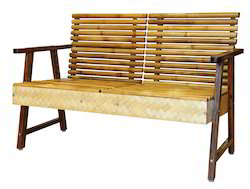 two seat bamboo sofa unit in bamboo timber