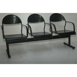 Perforated Metal Three Seater Chair