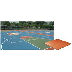 Silicon PU Sports Court Floor