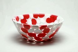 Red And White Pebbles Wash Basin
