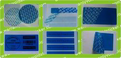 Blue Tamper Evident Stickers