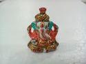 White Metal Meenakari Pagri Ganesha