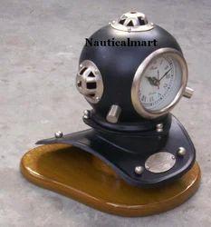 Divers Helmet with Clock