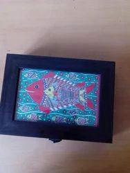 Mithala Printing Wooden Tea Box