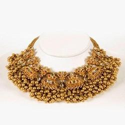 Gold Jewelery Traditional Gold Necklace Set Manufacturer
