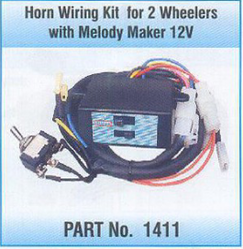 Horn Wiring Kit for 2 Wheelers - Horn Wiring Harness for 2 Wheelers on painting a horn, wiring directional signals, building a horn, mounting a horn, wiring an amp, wiring lights,