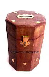 Long Wooden Money Bank