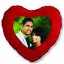 Red Double Side Heart Shape Fur Cushions