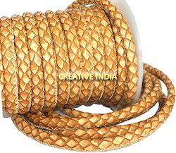 Braided Look Stitched Leather Cords