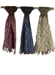 New Cotton Small Flower Kantha Scarves