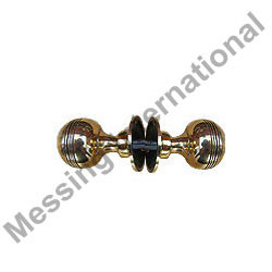 Brass Reeded Door Knobs
