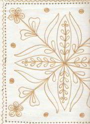 Embroidered Handmade Scrapbook Paper