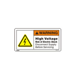 Hazardous Vapors Warning Sign