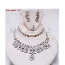 Fashion Silver American Diamonds Set