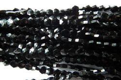 Black Spinel Hexagon Cut Beads