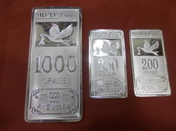 silver square coins
